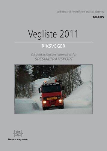 Vegliste 2011 Riksveger ... - BK Hengeren