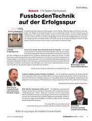 FussbodenTechnik auf der Erfolgsspur - beim SN-Fachpresse Verlag