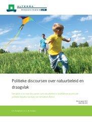 Politieke discoursen over natuurbeleid en draagvlak - Raad voor de ...