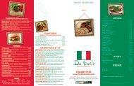 menu www.ilovedavincis.com CLASSIC PASTAS GOURMET ...