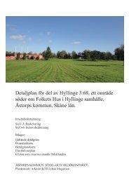 Detaljplan för del av Hyllinge 3:68, ett område söder om ... - Åstorp