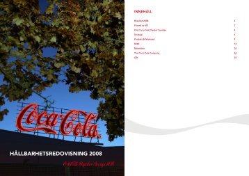 HÅLLBARHETSREDOVISNING 2008 - Coca-Cola