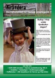 Menighetsbladet 2012 nr. 1 - Kirken i Hemne