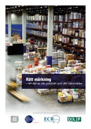 Rätt märkning - En del av din produkt och ditt varumärke - GS1