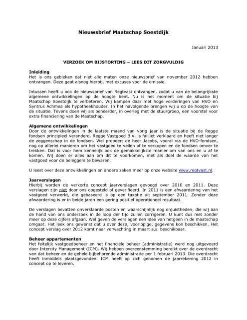Nieuwsbrief Maatschap Soestdijk - Wij helpen graag! - Regge ...