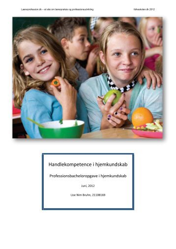 Handlekompetence i hjemkundskab - Folkeskolen