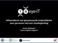 Download presentatie TReye-IT (pdf) - VAPH