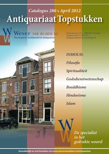 Antiquariaat Topstukken - Wever van Wijnen