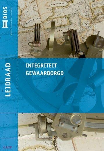 Handreiking Integriteit gewaarborgd - BIOS