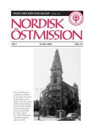 NR 1 MARS 2008 ÅRG 45 - Nordisk Östmission