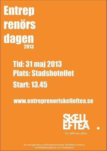 Inbjudan Entreprenörsdagen (pdf) - Skellefteå kommun