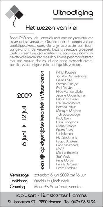 uitnodiging HetWezenVanKlei 2009.pdf - Hilde Van de Walle
