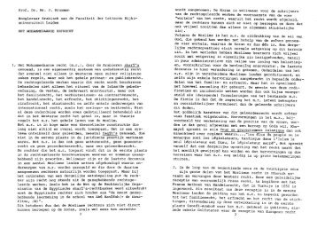 Prof. Dr. Mr. J. Brugman Hoogleraar Arabisch ... - Vereniging RIMO