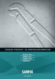 teknisk produkt- og montageinformation - SANHA GmbH & Co. KG