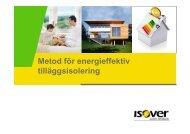 Metod för energieffektiv tilläggsisolering - Isover