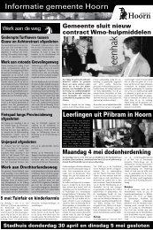 Hoorn Info pagina's week 18 2009 - Gemeente Hoorn
