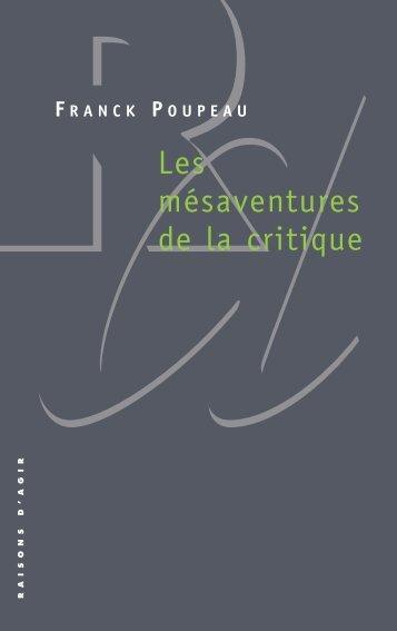 Franck Poupeau_Les mésaventures de la ... - Contretemps