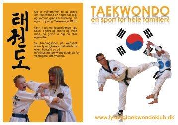 en sport for hele familien! - Lyseng Taekwondo Klub