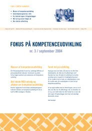 Fokus på kompetenceudvikling nr. 3 - KTO
