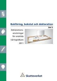 Bokföring, bokslut och deklaration, del 2, taxeringsår ... - Skatteverket