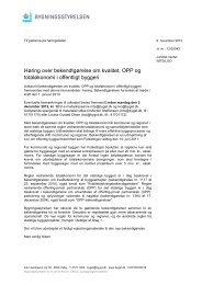 Høring over bekendtgørelse om kvalitet, OPP og totaløkonomi i ... - Net