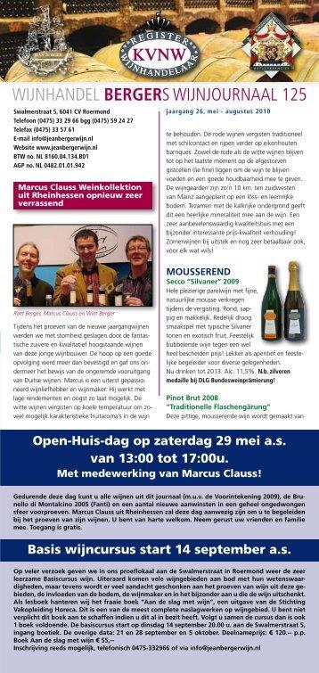 wijnhandel bergers wijnjournaal 125 - Wijnhandel Jean Berger