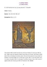 1. søndag i fasten 17. februar 2013 1 Kl. 10.00 Burkal Kirke (org. og ...
