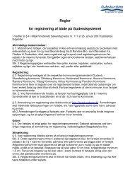 Regler for registrering af både på Gudenåsystemet - Randers Havn