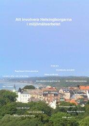 Involvera Helsingborgare i miljöarbetet - Helsingborgs stad