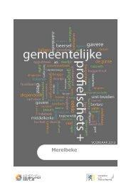 Profielschets 2013 - Gemeente Merelbeke