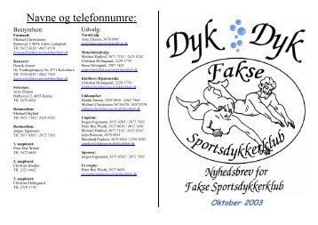 Dyk Oktober 03.pdf - Fakse Sportsdykkerklub