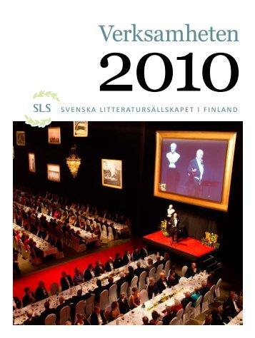 Verksamheten 2010 - Svenska litteratursällskapet i Finland rf.