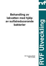 Behandling av lakvatten med hjälp av ... - Avfall Sverige
