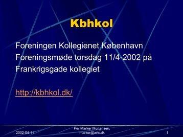 Etablering af lokalnetværk på et kollegie - Kbhkol - Foreningen ...
