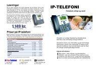 Priser på IP-telefoni Løsninger - MicroCMS - nemt og billigt CMS