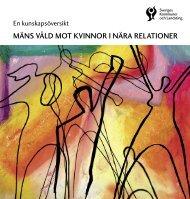 mäns våld mot kvinnor i nära relationer - Webbutik - Sveriges ...
