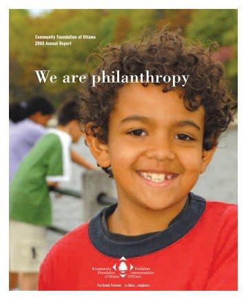2005 Annual Report - Community Foundation of Ottawa