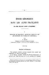 études géologiques dans les alpes françaises - Revue de géologie ...