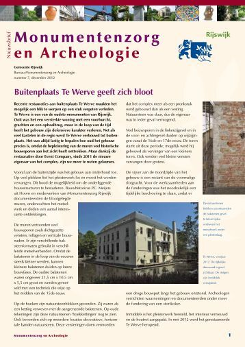 digitale versie van de nieuwsbrief downloaden - Gemeente Rijswijk