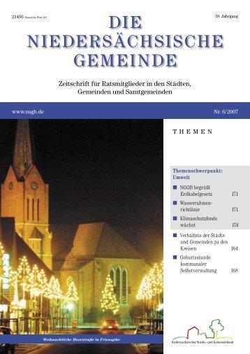 Friedensstifter - Niedersächsischer Städte- und Gemeindebund