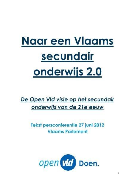 Tekst persconferentie onderwijs 27 juni 2012.pdf - Open Vld