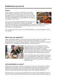 Buddhismens syn på mat - BuddhismInfo.se