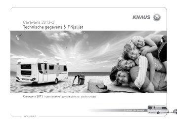 Knaus Prijslijst 2013 - Caravan Centrum Sloten