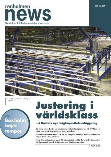 Justering i världsklass - Renholmen.se