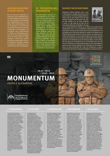 Monumentum Leaflet (pdf, 917 kb) - Koninklijk Museum van het ...