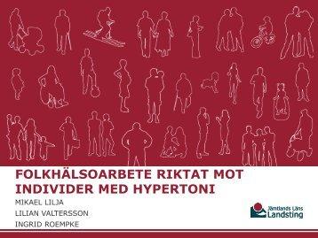 """Folkhälsoarbete riktat mot individer med hypertoni"""""""