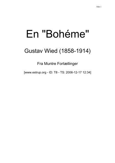 "En ""Bohéme"""