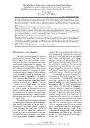 Globalização, meio inovador e sistemas territoriais de ... - UCDB