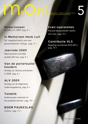 houders Jaarrede 2009 BOEM PAUKESLAG In Memoriam Henk Luif ...