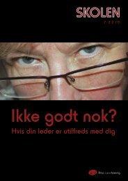 Hvis din leder er utilfreds med dig - Århus Lærerforening - kreds 133